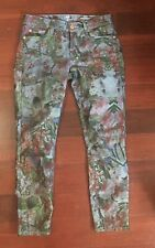 $189 7 Seven For All Mankind Women Crop Gwenevere Floral Skinny Jeans 26