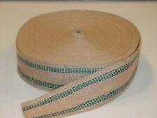 72 Yard Roll 3 1/2 inch Green Stripe Jute Webbing ~Wholesale Supplies~