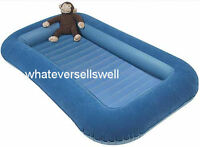 BUMPER BLUE JUNIOR SINGLE AIR BED mattress inflatable camp AIRBED child kids