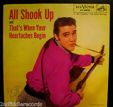 ELVIS PRESLEY-All Shook Up-Picture Sleeve & 45-RCA VICTOR #47-6870-Rockabilly
