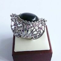 Vintage Art Déco estilo recortado anillo con piedra varias opciones