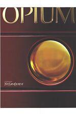 Publicite ADVERTISING 2003 yves saint laurent presents his famous opium