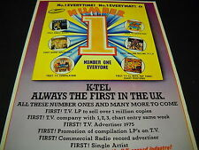 K-Tel 1st with Perry Como 1st with 1st with 1st with Vintage Promo Display Ad