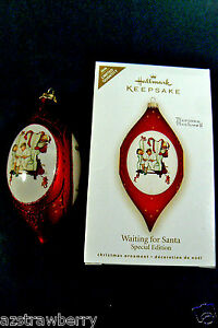 Hallmark Keepsake 2008 Limited Edition Norman Rockwell Christmas Ornament