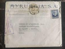 1936 Barcelona Spain Censored Perfume Factory cover to Geneva Switzerland