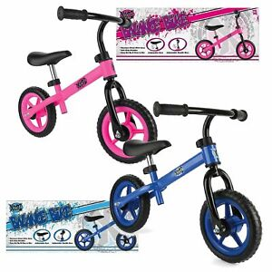 """Xootz Balance Bike Boys Girls Toddler Kids Training Bicycle 10"""" Wheels Blue Pink"""
