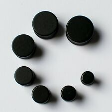Pair Black Wooden Ear Plug Drum Flesh Tunnel Wood Jewellery Stretcher 8mm - 20mm