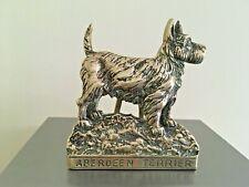 More details for brass vintage aberdeen terrier door knocker excellent condition free uk postage