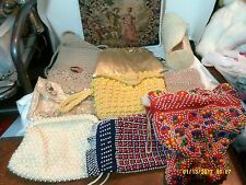 JUNK DRAWER BOX LOT IF VINTAGE PURSED & HAND BAGS