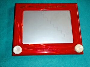 ETCH A SKETCH ANIMATOR DRAWING TOY BY OHIO ART RED WITH WHITE MARBLED EDGE #505