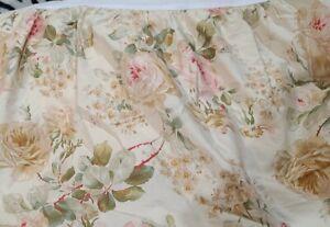 Ralph Lauren Woodstock King Bed Skirt Dust Ruffle Shabby Cottage Floral Roses