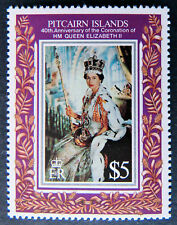 1993 Pitcairn Islands Stamps - 40th Anniversary Coronation of QEII - Set 4 MNH