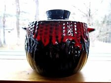 ROYAL CANADIAN ART POTTERY ONTARIO CANADA BEAN CROCK 1 QT # B10 - FREE USA SHIP!
