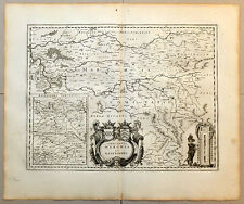 Carte 1656 JANSSONIUS antic map in-folio COMTÉS DE MARCK RAVENSBERG Hattingen 48