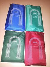 100 pc LOT WHOLESALE/ NEW ISLAMIC TRAVEL PRAYER RUG WITH POUCH/ WATERPROOF / USA