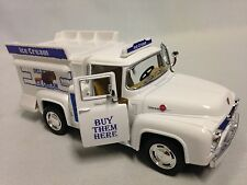 "1956 Ford F-100 Ice Crem Truck 5.5"" Diecast 1:38, Pull Back Action, Toys, White"