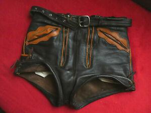 Vintage tolle kurze Lederhose Lederhose Pfadfinderlederhose