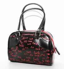 Red Fuk Print Bag Punk Goth Rockabilly Pinup Alternative Fashion Handbag Pouch