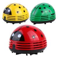 Cute Ladybug Desktop Vacuum Cleaner Dust Collector for Home Office Table TN2F