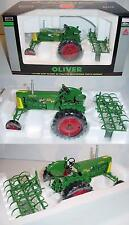 1/16 Oliver Row Crop 66 Tractor W/Spring Tooth Harrow Toy Tractor Times 2008 NIB