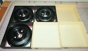 Lot of 3 Trays - Kodak Rotary 80 Slide Tray for Kodak Carousel