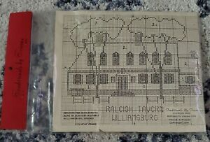 Traditionals by Tricia Cross Stitch Kit Raleigh Tavern  Williamsburg Vintage '79