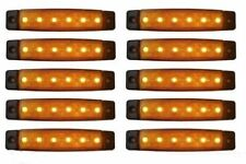 10 X SEGNALATORE LUCE INGOMBRO A 6 LED SMD 12V 12 VOLT arancione CAMPER FURGONE