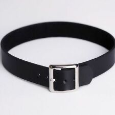 Punk Chain Collar Necklace Leather Buckle Choker Bracelet Black