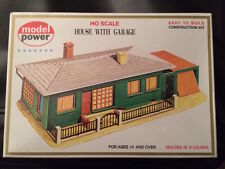 Model Power Home with Garage HO building kit-new