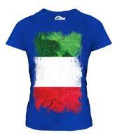 ITALY GRUNGE FLAG LADIES T-SHIRT TEE TOP ITALIE FOOTBALL ITALIAN GIFT SHIRT
