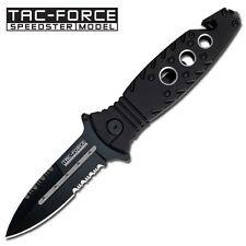 """8"""" Black Tac Force Spring Assisted Folding Knife Blade pocket open switch"""
