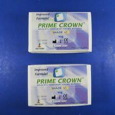 Dental Temporary Crown KIT/2 Shade A2 & A3 PRIME DENT IMPROVED FORMULA