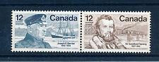 Canada 1977 famoso canadesi sg892 / 893 se-tenant COPPIA MNH