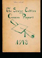 kannapolis NC J W Cannon High School yearbook 1948 North Carolina