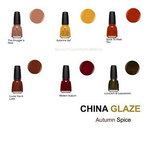 China Glaze Nail Polish: Autumn Spice Collection. The newest fall shades🍂🍁