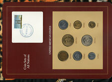 Coin Sets of All Nations Mexico w/card 1985-1990 50,100,1000 Pesos 1990 18FEB94