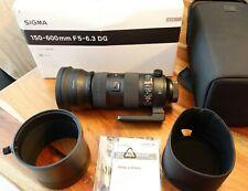 "Sigma 150-600mm F5-6.3 DG OS HSM ""S"" Sport für Nikon F Mount"