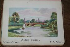 More details for 1908 commonplace book with paintings poetry humour drawings autograph album  *