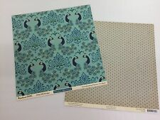 LOT OF 2 OCTOBER AFTERNOON - WOODLAND PARK -  DOUBLE SIDED CARDSTOCK 12x12""