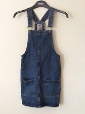 Denim dungaree dress with pocket details ladies size