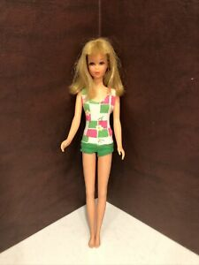FRANCIE DOLL BARBIE VINTAGE Rooted Lashes Bendable Legs Swimsuit 1965
