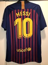 Nike FC Barcelona 2018-2019 Home Soccer Jersey Large, Messi #10, New w/o tags