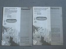 2x Panasonic RX-ES25 / RX-ES20 - Bedienungsanleitung Deutsch / Mehrsprachig