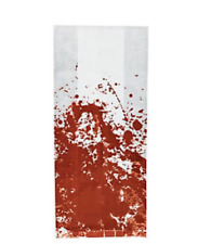 Pack of 12 - Halloween Zombie Blood Stain Cellophane Party Bags
