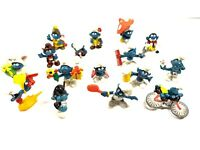 Lot of 16 Vintage Peyo Smurf Figures 80's 70's RARE