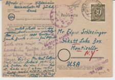 Allied Occupation 928 Ef As Postcard From Hildesheim, Germany IN The USA 1948