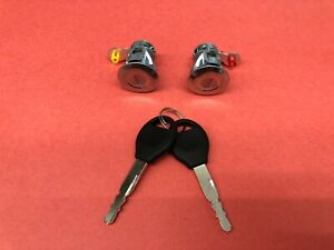 ALTIMA FRONTIER PATHFINDER XTERRA FL FR DOOR LOCK CYLINDER SET PAIR MATCHED NEW!