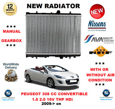 FOR PEUGEOT 308 CC CONVERTIBLE 1.6 2.0 16V THP HDi 2009> RADIATOR * OE QUALITY *