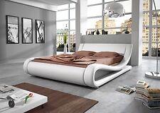 Kunstleder Polster Designer Bett Orlando mit Farbauswahl 180x200 cm