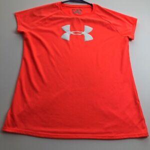Under Armour Youth Extra Large YXL Short Sleeve Activewear Shirt Neon Orange